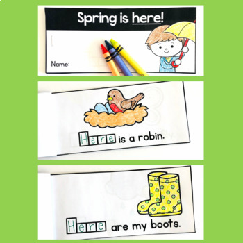 Free Spring Sight Word Interactive Reader: here