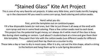 "Free Spring ""Stained Glass"" Kite Art Project"