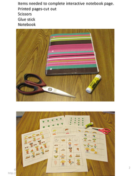 Free Spring Summer Interactive Notebook Cut and Paste Activities Sampler.