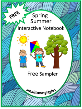 Free Spring Summer Interactive Notebook Cut and Paste Acti