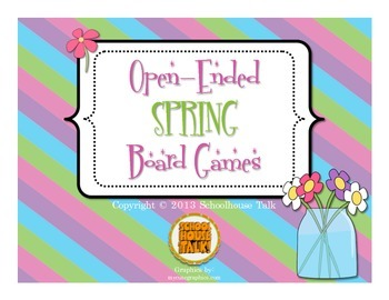 Free Spring-Themed Open Ended Board Games {Set of 3}
