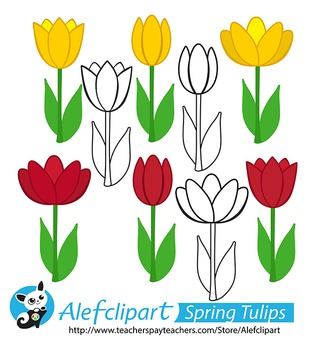 Free! Spring Tulips. Digital Clipart Creative Clips