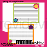 Free Spring Writing Notepad Template