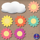 Free Springtime, Flowers, Green Grass, Sunshine & Rain Clouds Clip Art Freebie