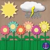 Free Springtime, Flowers, Green Grass, Sunshine & Rain Clo