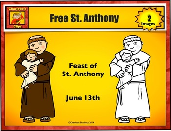 Free St. Anthony Clip art from Charlotte's Clips: Catholic - Christian Series