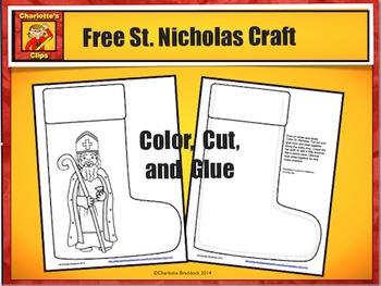 Free St. Nicholas Craft from Charlotte's Clips: Catholic - Christian Series