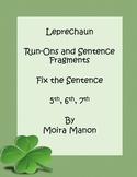 Free St Patrick Day Fix the Sentence Activity