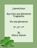 Free St Patrick Day Fix the Sentence Activity