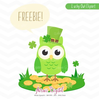 Free St Patrick Owl Clipart