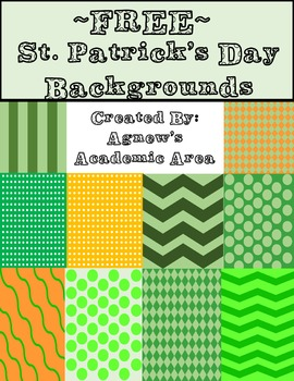 Free St. Patrick's Day Background Paper ~Commercial Use Allowed~