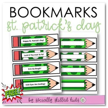 St. Patrick's Day Book Marks~ FREE!