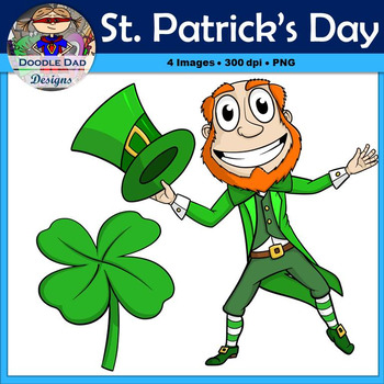 St. Patrick's Day Clip Art (Leprechaun, Four Leaf Clover, May, Holiday)