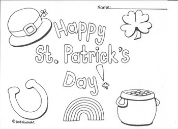 free st patrick s day coloring page by noodlzart tpt