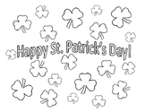 Free St. Patrick's Day Coloring Sheet Shamrock Coloring Page St Patricks Free