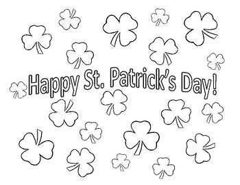 Free St Patrick S Day Coloring Sheet Shamrock Coloring Page St