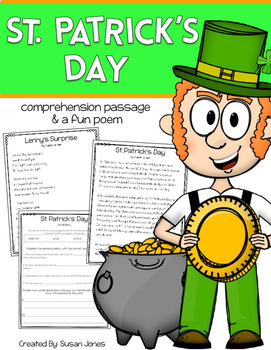 Free St. Patrick's Day Comprehension and Poem