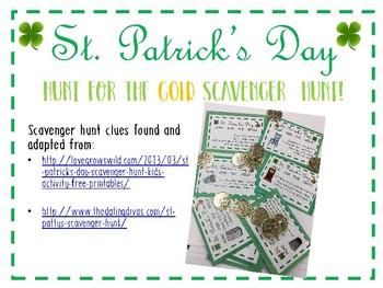 Free St. Patrick's  Day Scavenger Hunt Printables!