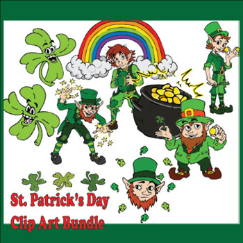 Free St. Patrick's Day Clip Art Bundle - Commercial Use