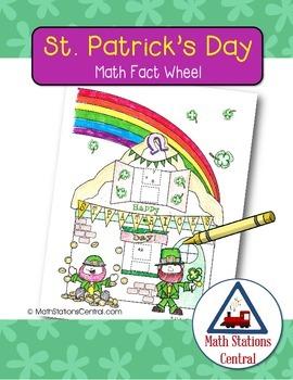 Free St. Patrick's Day Math Fact Wheel