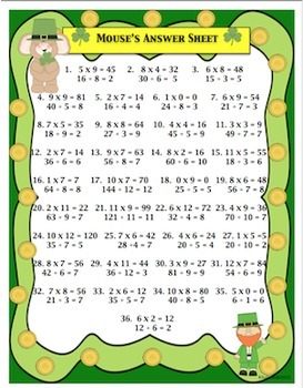 Free Downloads St. Patrick's Day Math Game! Early Finishers and Centers