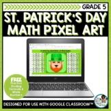 Free St Patricks Day Math Pixel Art | Dividing Decimals