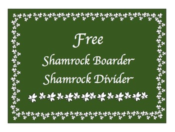 Free St. Patrick's Day Shamrock Border from Charlotte's Clips