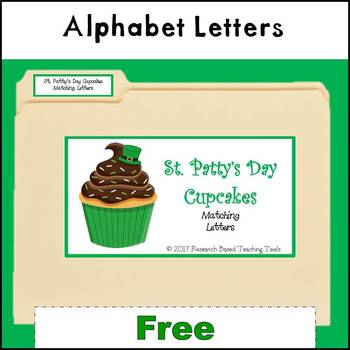 Free: St. Patty's Day Cupcakes File Folder Game Letter Ide