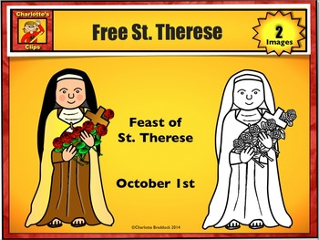 Free St. Therese Clip Art from Charlotte's Clips