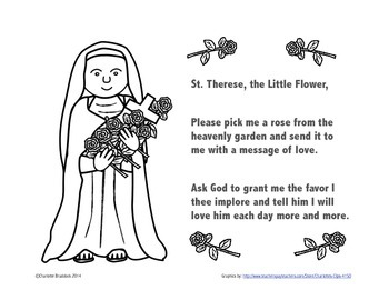Free St. Therese printable from Charlotte's Clips