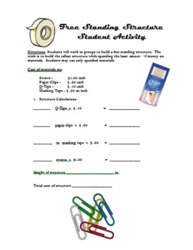 Free-Standing Structure Group Activity