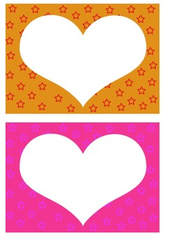Free Star Background Borders (Heart and Oval)