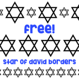 Free!  Star of David Borders