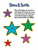 Free Stars with Swirls Clipart