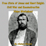 Free State of Jones and Newt Knight (Civil War and Reconstruction Worksheet)