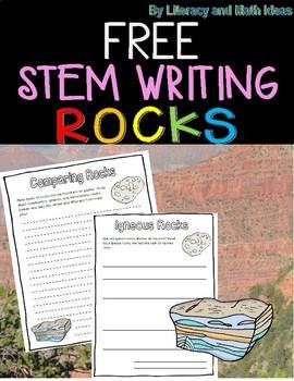 Free Stem Science Writing (Sedimentary, Metamorphic, and Igneous Rocks)