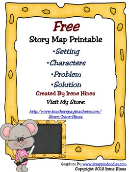 Free Story Map Printable : Setting, Characters, Problem, Solution