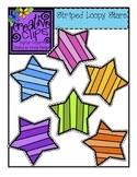 {Free} Striped Stars {Creative Clips Digital Clipart}