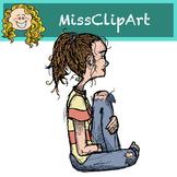 Free Student Girl Clipart {MissClipArt}