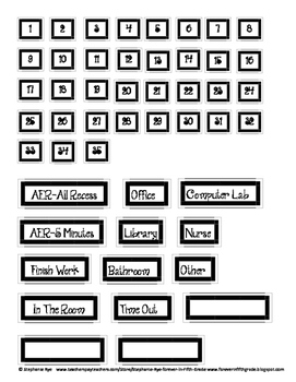 Free Student Tracker Board Labels