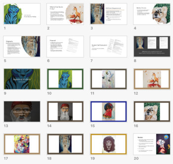 Student Choice framework for High School Visual Art - TAB Art Projects