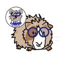 Free Studious Guinea Pig Clip Art