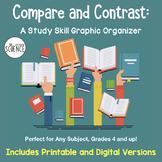 Free Study Skill Graphic Organizer:  Compare and Contrast Concepts (Common Core)