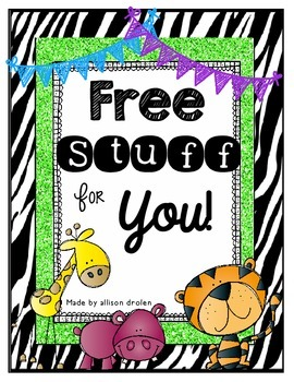 Free Stuff For You!