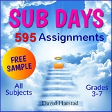 "FREE - Sub Plans | ""Cover Sheet"" (K-7)"