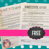 FREE Substitute Form