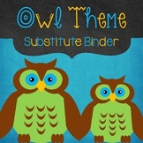 Editable Substitute Binder Owl Theme