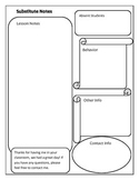 FREE Substitute Feedback Form