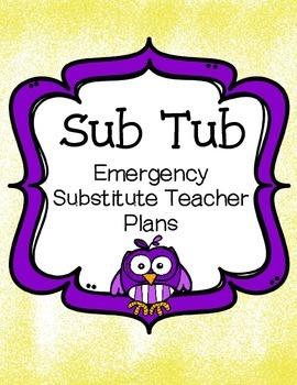 Free Substitute Teacher Tub Set