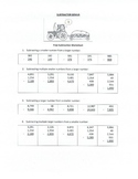 3rd to 5th Grade Subtraction Worksheet